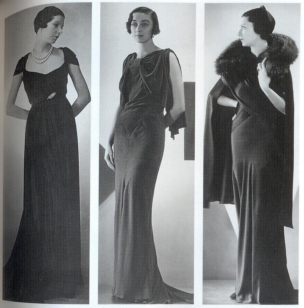 Black dress 1920s style living