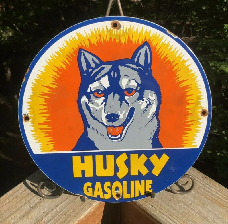 Husky Gasoline Distressed Laser Cut Out 15x17.5