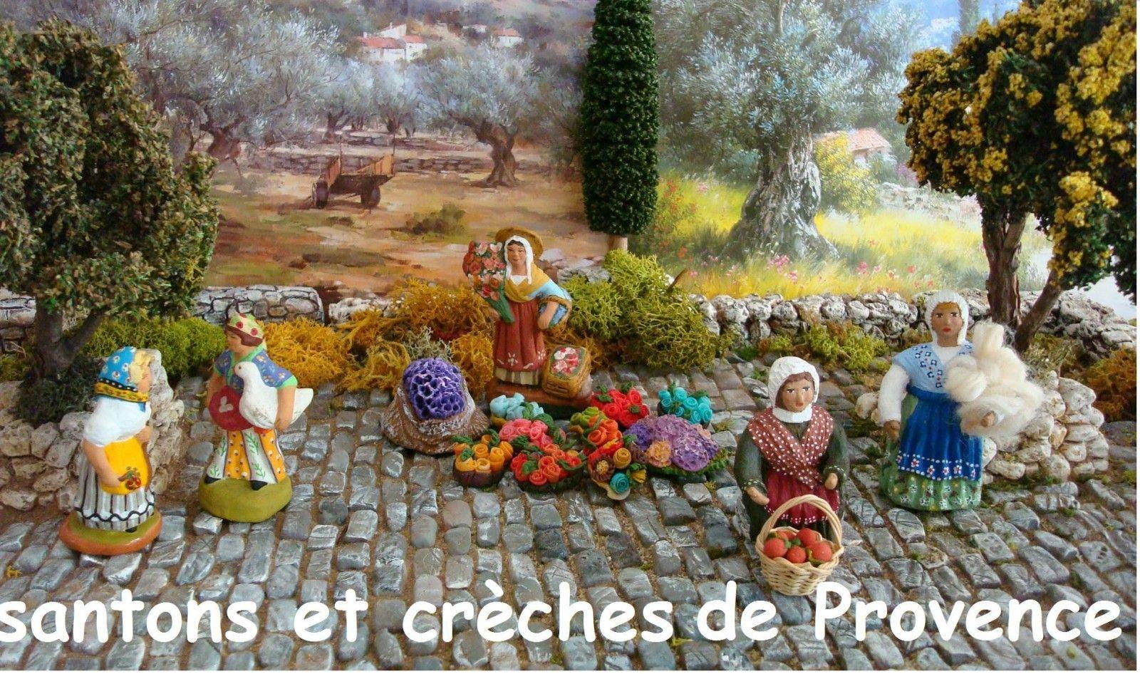 Le blog de santounette table de noel pinterest santon cr che et santons de provence - Decor creche de noel provencal ...