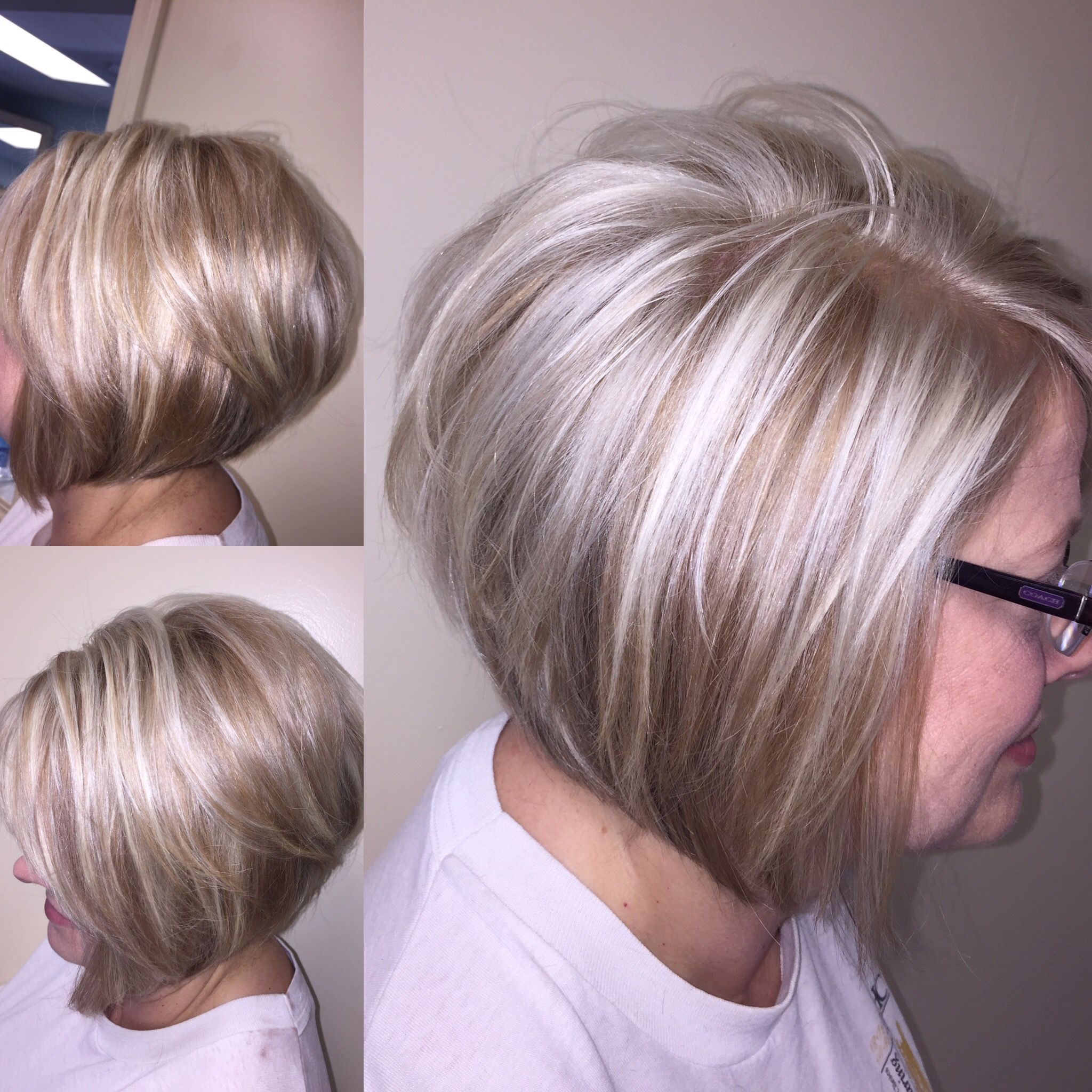 bob inverted bob .. icy blonde .. champagne brown