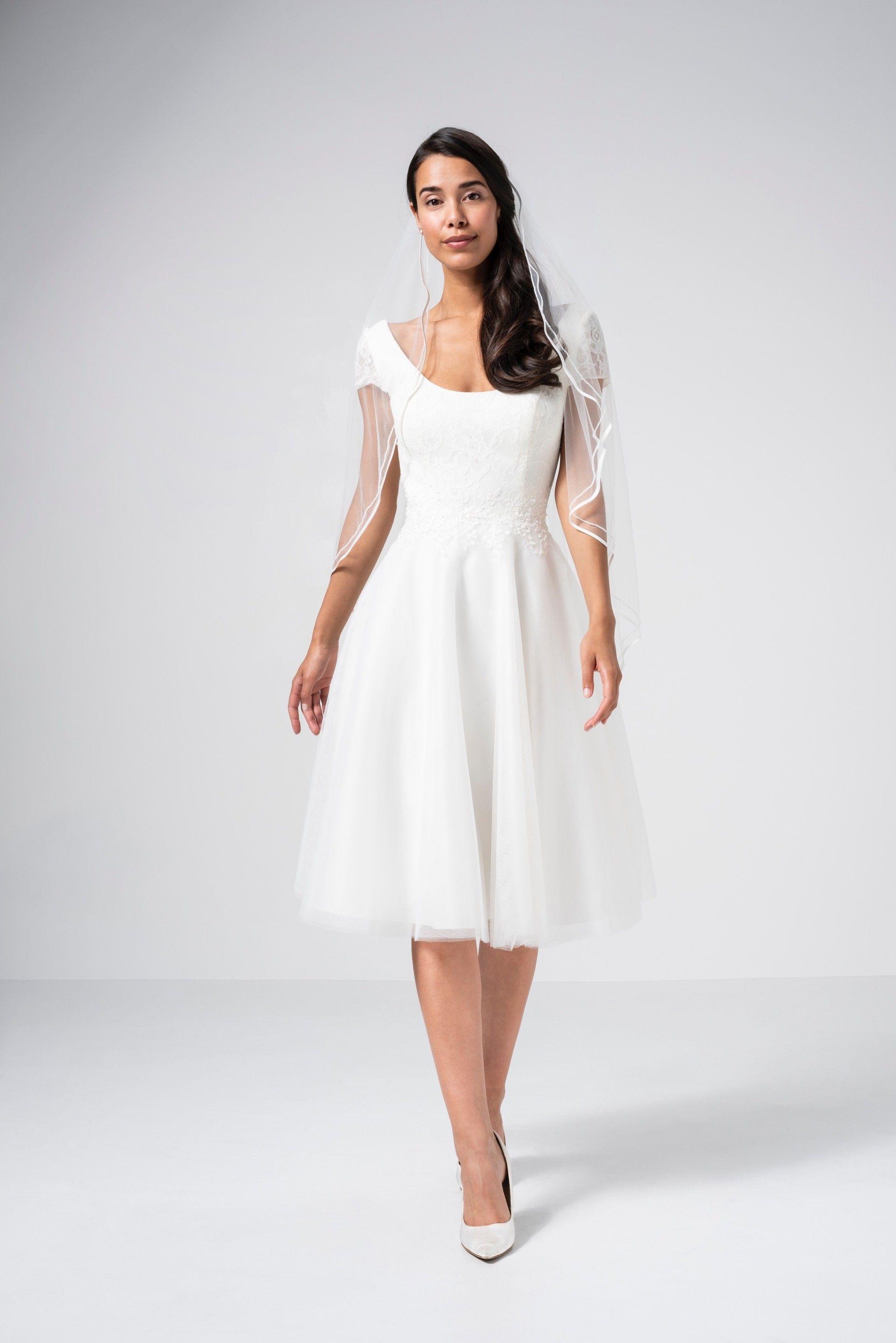 Kleid Standesamt Braut  miami 2021