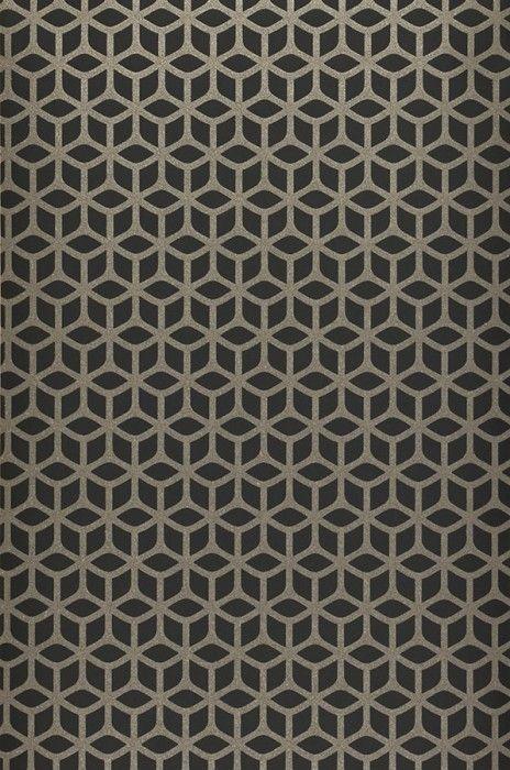 zelor geometrische tapete silbergrau und oberfl che. Black Bedroom Furniture Sets. Home Design Ideas