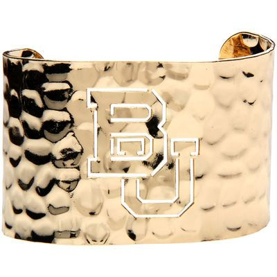 Women's Gold Baylor Bears Hammered Cut-Out Cuff Bracelet