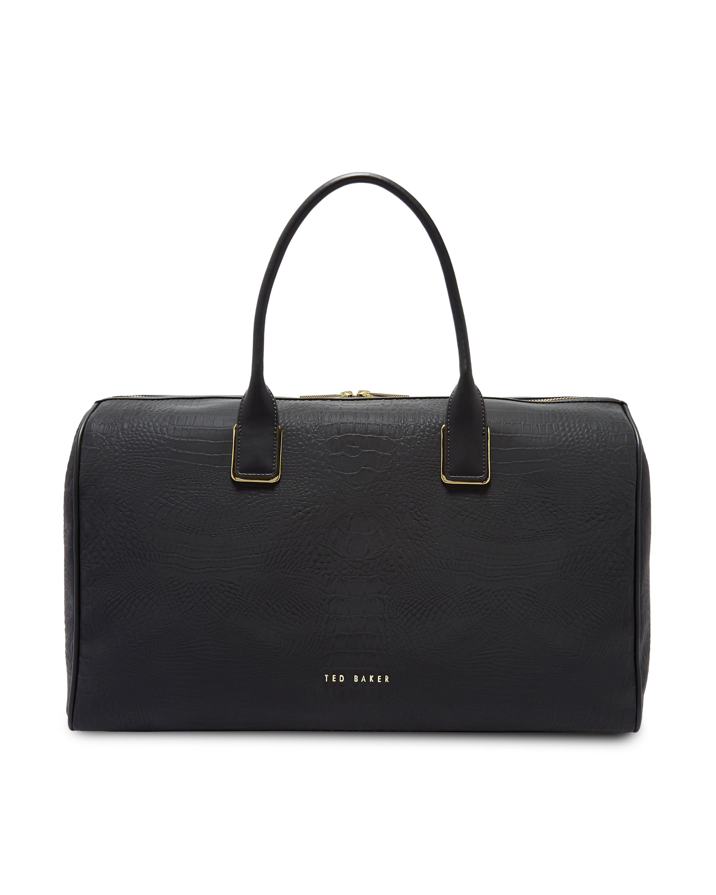 932d2cb1d Ted Baker Black Conneli Croc Embossed Duffel Bag - for use as a hospital bag  on delivery day!