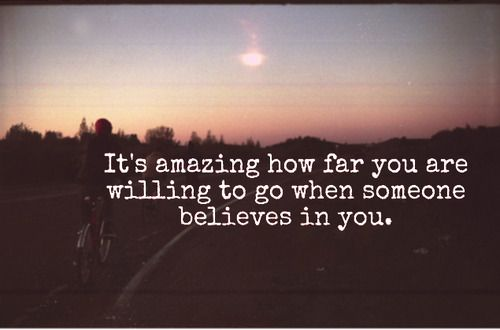 Encouragement matters.