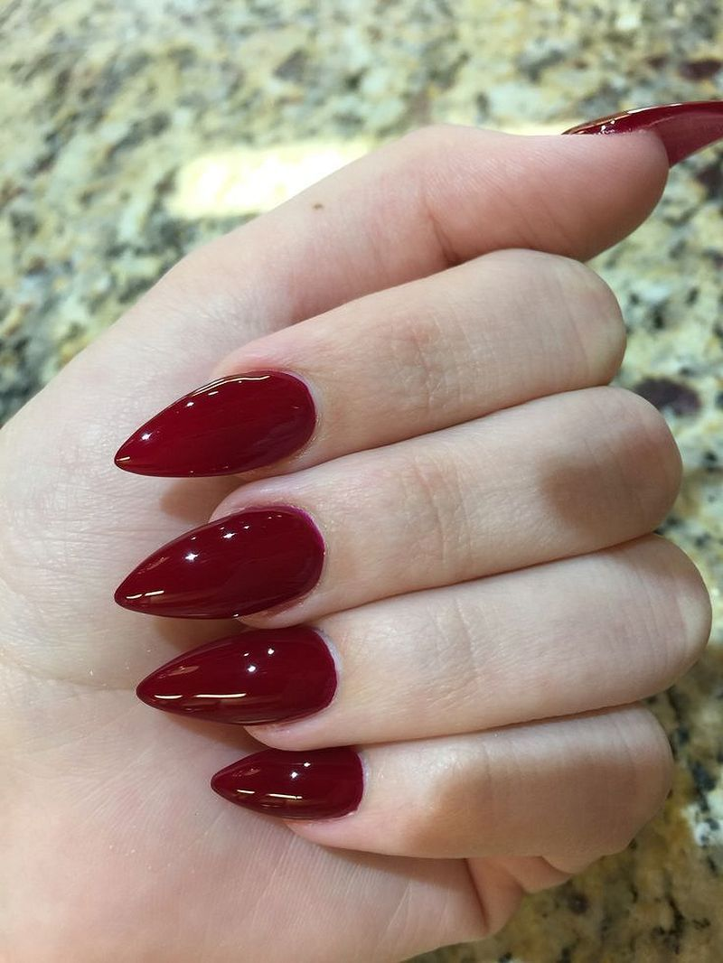 31 Beautiful Winter Nail Art Designs | Red acrylic nails ...
