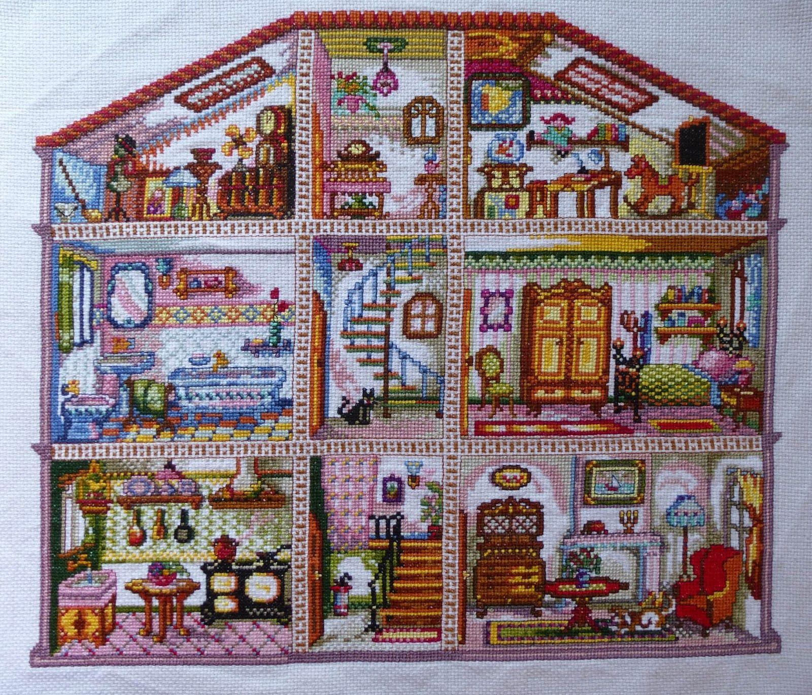 Las labores de mi madre: Patrones a punto de cruz, Casa de muñecas ...