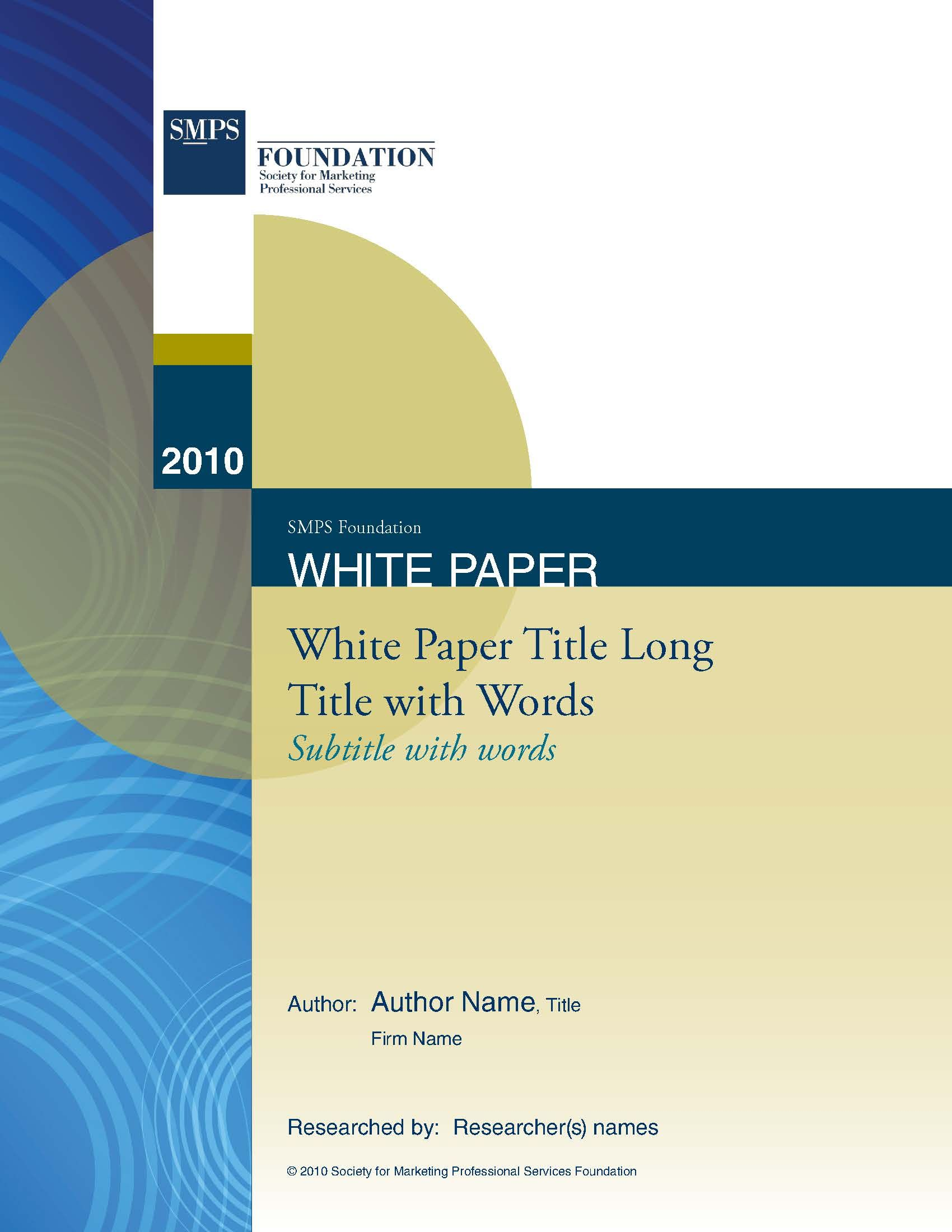 Smps National White Paper Template Design In Word  Kk Consulting
