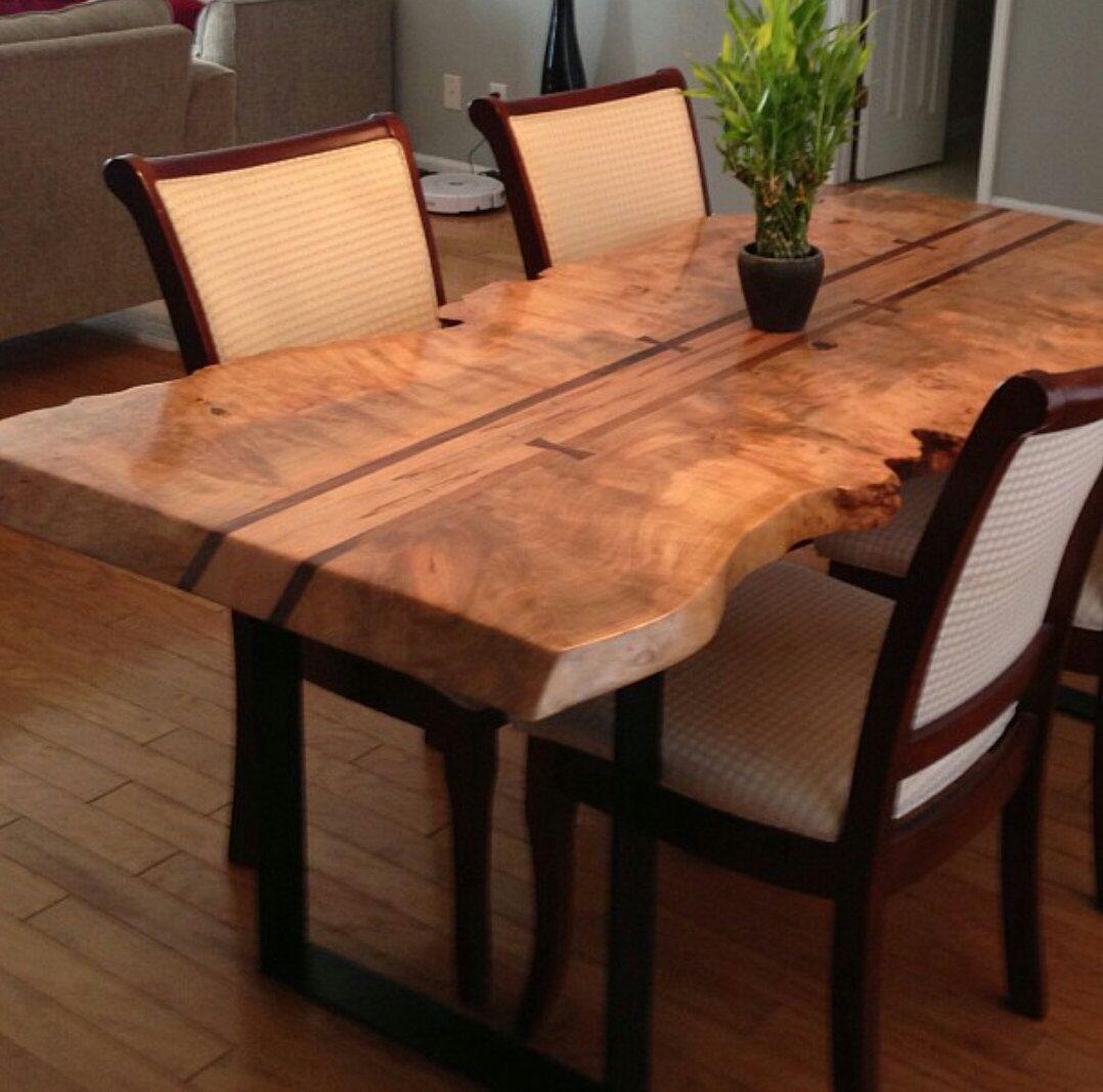 Maple Live Edge Dining Table Wood Slab Dining Table Slab Dining