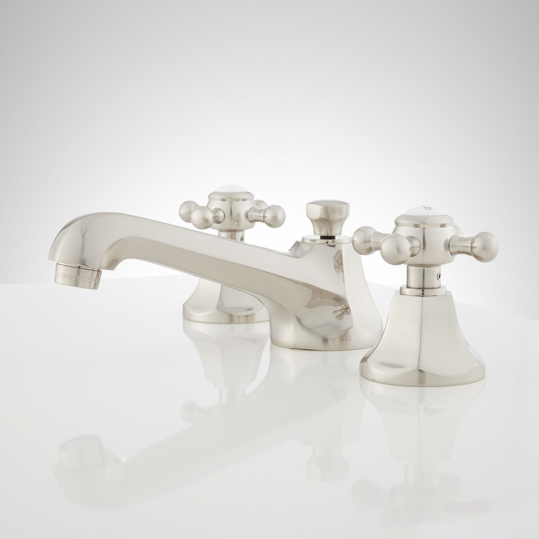 New York Widespread Bathroom Faucet Contemporary Cross Handles