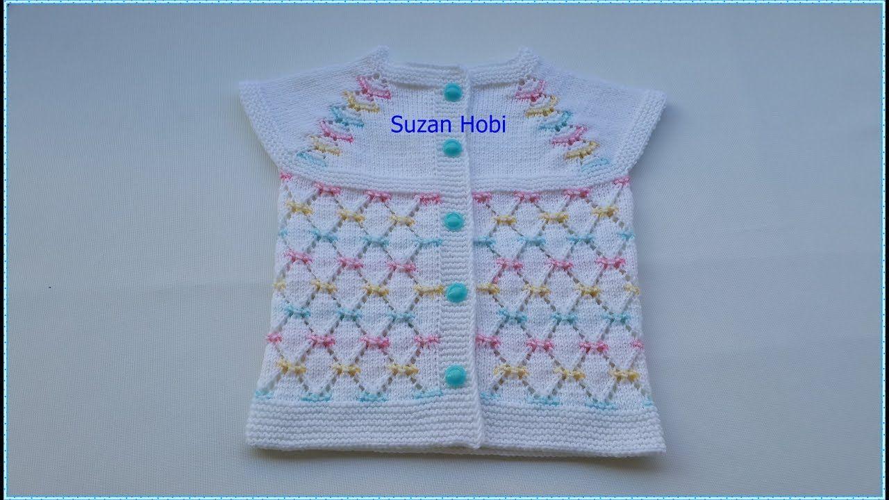 Sparkling Baklava Slice Model Girl Baby Mandarin Detailed Narration Part 1 2020 Baby Knitting Patterns Bebek Bebek Yelek