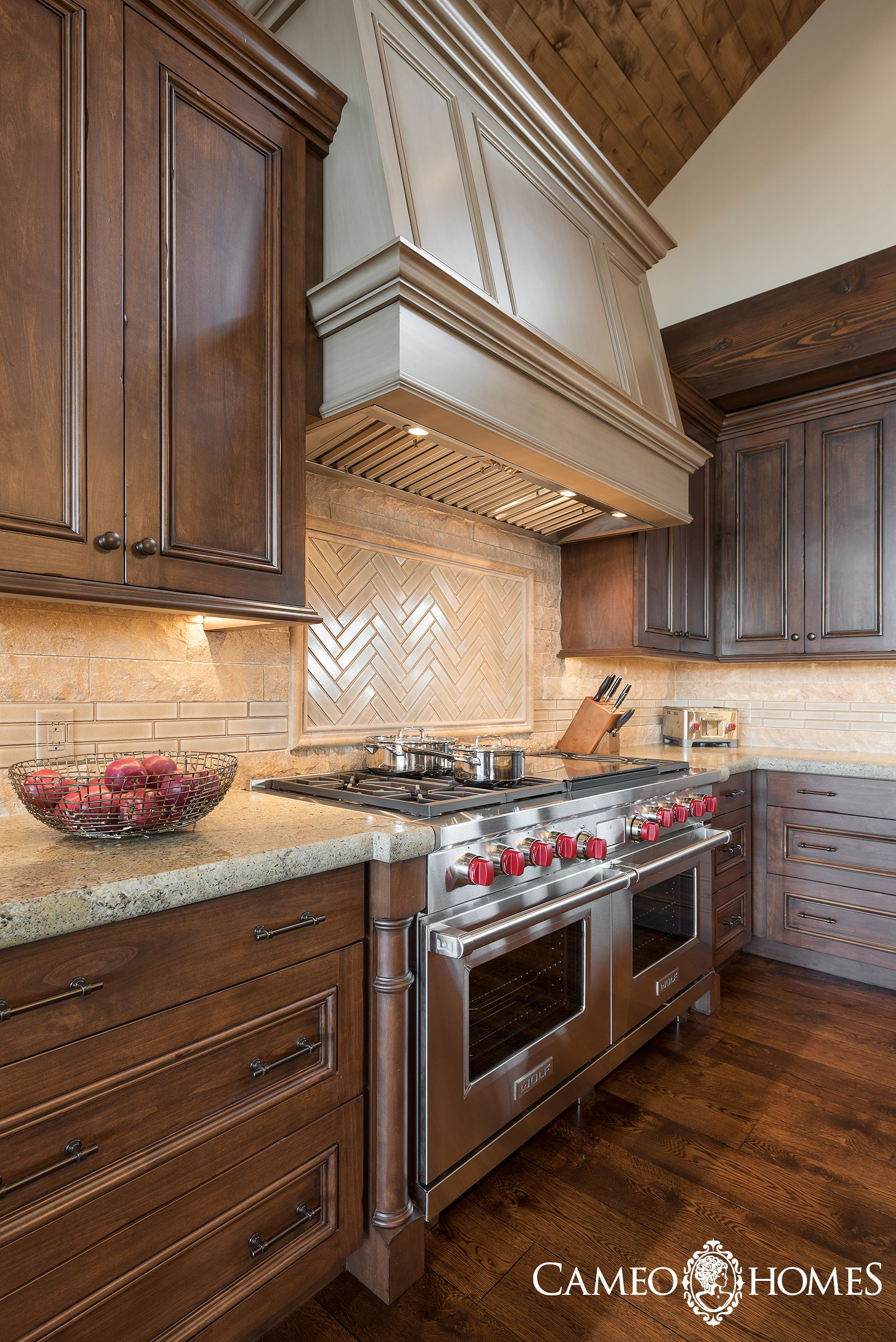 Stunning Wolf Appliances in this beautiful Park City kitchen by ...