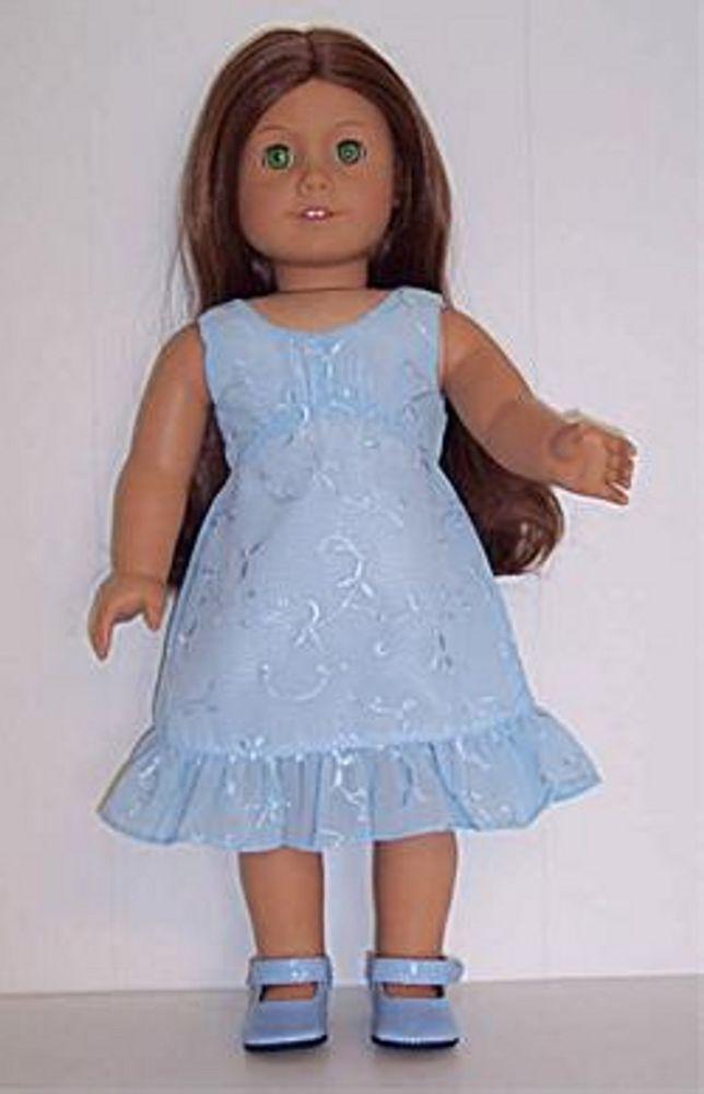 d4b6a981c62 Dolls   Bears Modern Doll Clothes   Fashion Accs Light Blue Eyelet Dress  made for 18 ...