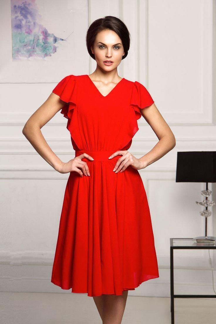 nice Яркие платья красного цвета (50 фото) — Короткие и длинные модели 2017 e14f2435537e8
