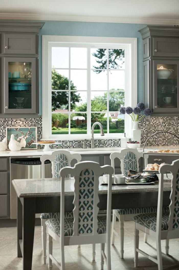 Wohnideen Küche Ausgefallene Wandgestaltung Mit Mosaikfliesen