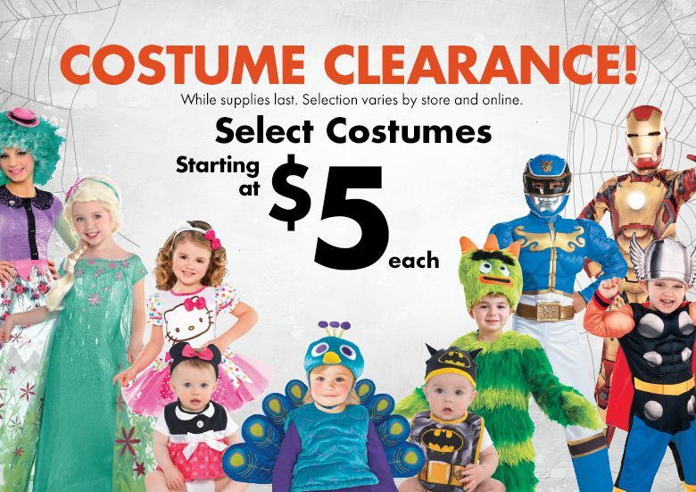 Clearance Halloween Costumes - Halloween Sale Costumes  Supplies - party city store costumes