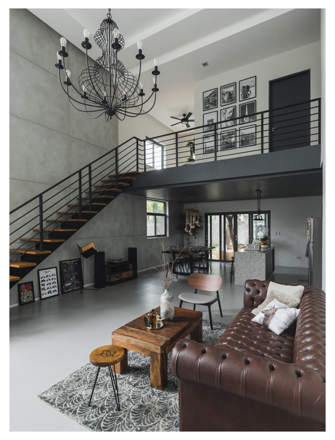Style Rules This Modern Minimalist Industrial Home Modern Loft Decor Its Raw Character And Modern Minimalist House Loft House Design Industrial Home Design