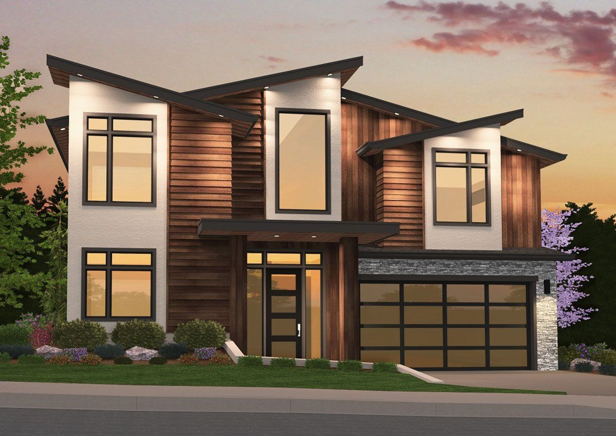 Plan 85159MS 4 Bed Modern Stunner with Lower
