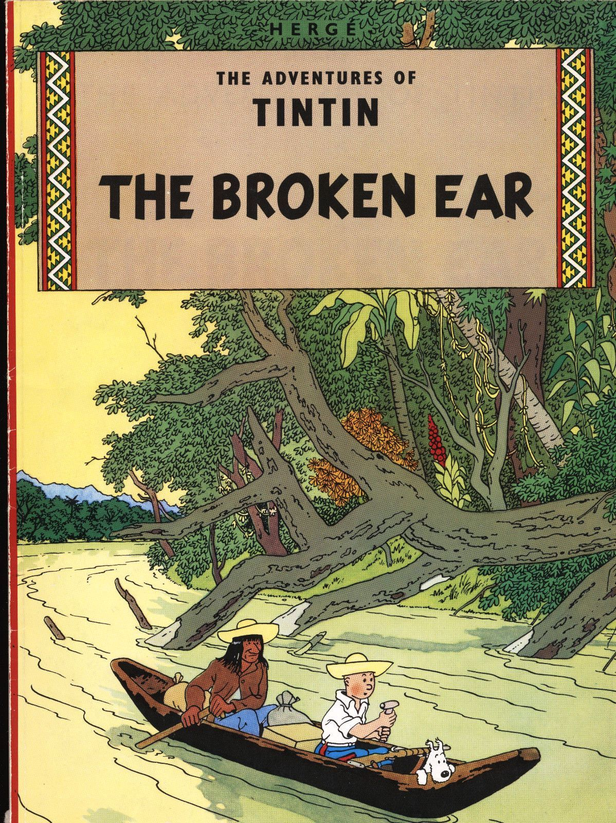 The Adventures Of Tintin The Broken Ear By Herge 1976 Tintin Book Posters Comics
