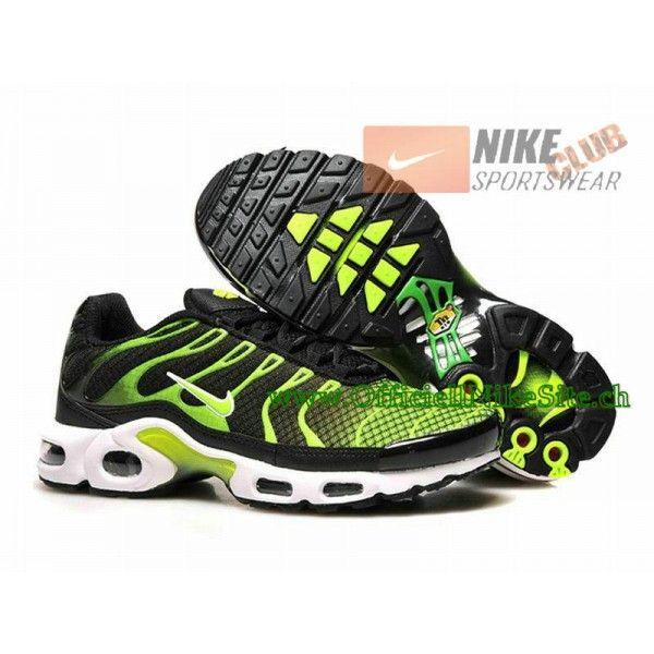 check out f2cc6 d7136 Nike Air Max Tn Requin Tuned 2015 Chaussures Nike Officiel Pour Homme  Vert Noir