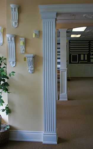 Square wood column gallery breakfast nook designs for Interior square column designs