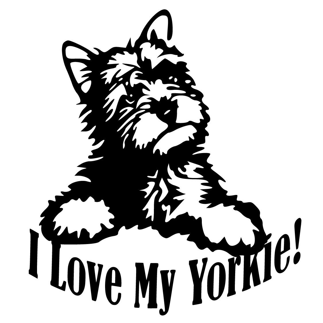 61ef630f5d50f Pin by Pickled Designs on Vinyl Decals | Yorkie, Yorkie cuts, Dog ...