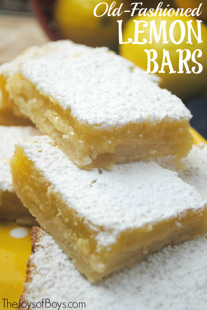 These old-fashioned lemon bars are the perfect summer treat! These would be the perfect dessert for a summer picnic or BBQ.