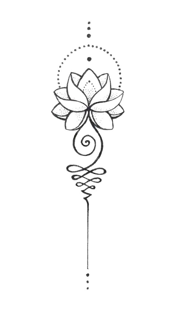 Unalome Lotus  #Lotus #symbol #unalome #Tattoos #diytattooimages  diy best tattoo images   #diytattooimages