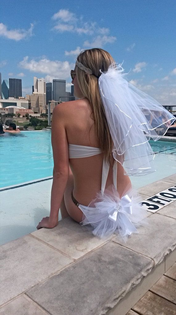 Bridal Booty Veil The bikini veil clips to by KayJamesBoutique
