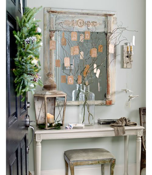 Elegant And Neutral Christmas Foyer: Small Entryway And Foyer Ideas & Inspiration
