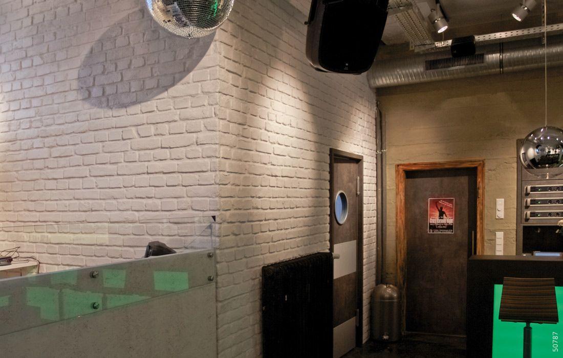 Ladrillo Loft bar wandverkleidung ladrillo loft blanco steinwand restaurant