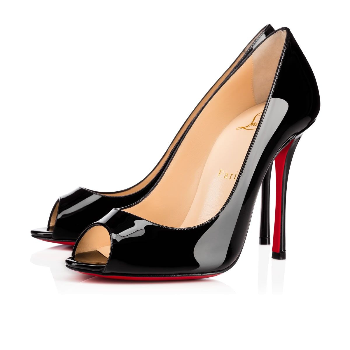 hot sale online dd0d6 135cf CHRISTIAN LOUBOUTIN Yootish 100 Black Patent Leather - Women ...