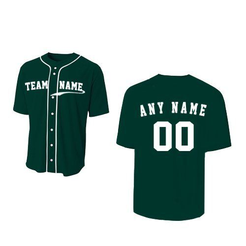 734f7c9b50f Forest Dark Green Adult Adult 3XL (CUSTOM Front and/or Back) Sports Uniform