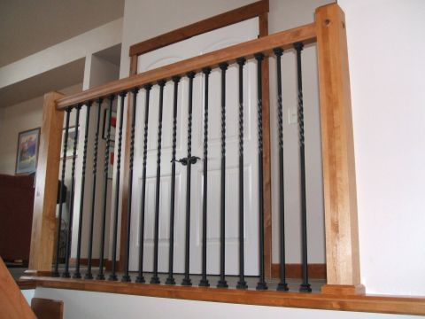 Best Alder Railing With Metal Balusters Also Love This Look 640 x 480