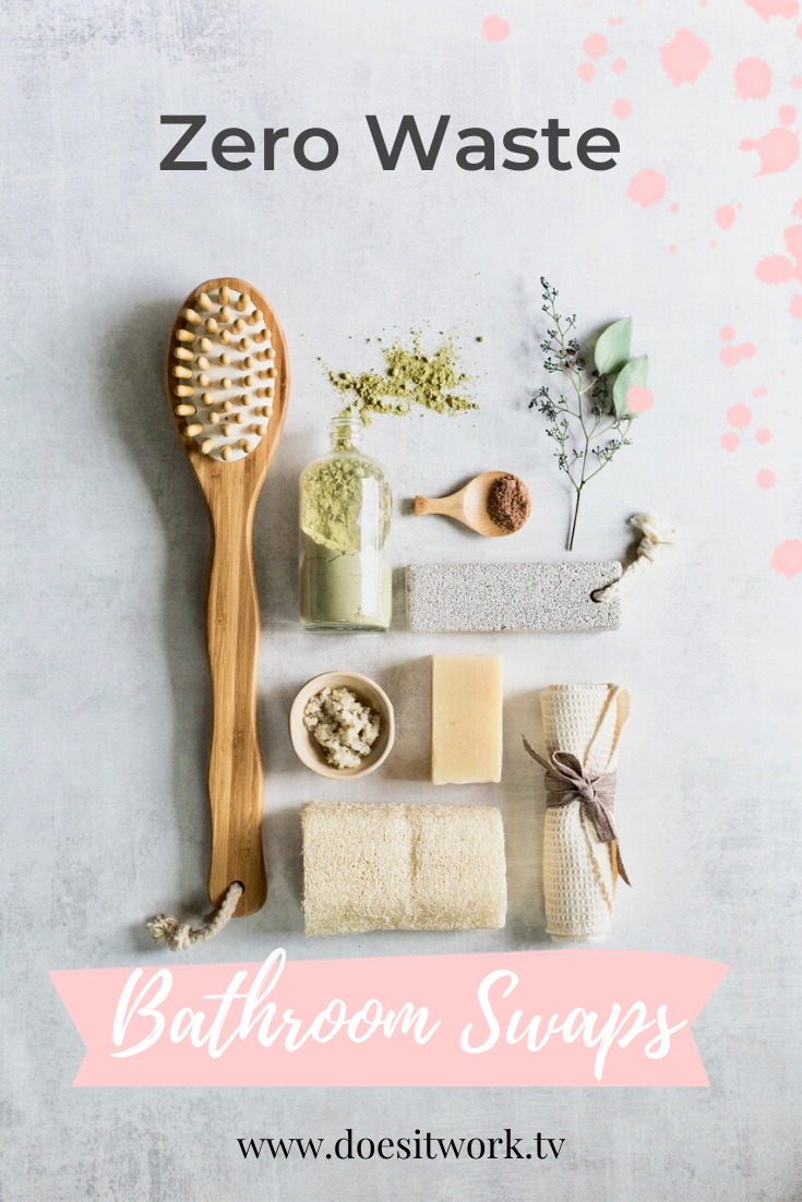 5 Zero Waste bathroom swaps to help you save money and the planet! Here are 5 Swaps you can make in the bathroom to make it eco friendly. And they cost less than what you're currently using. #zerowastebathroom #zerowastebathroomswaps #e #Bathroom #eco friendly bathroom swaps #Swaps #Waste