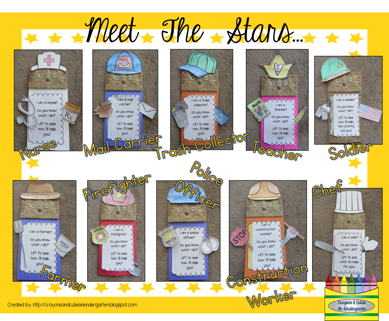Community Helpers Interactive Puppets Set Of 10