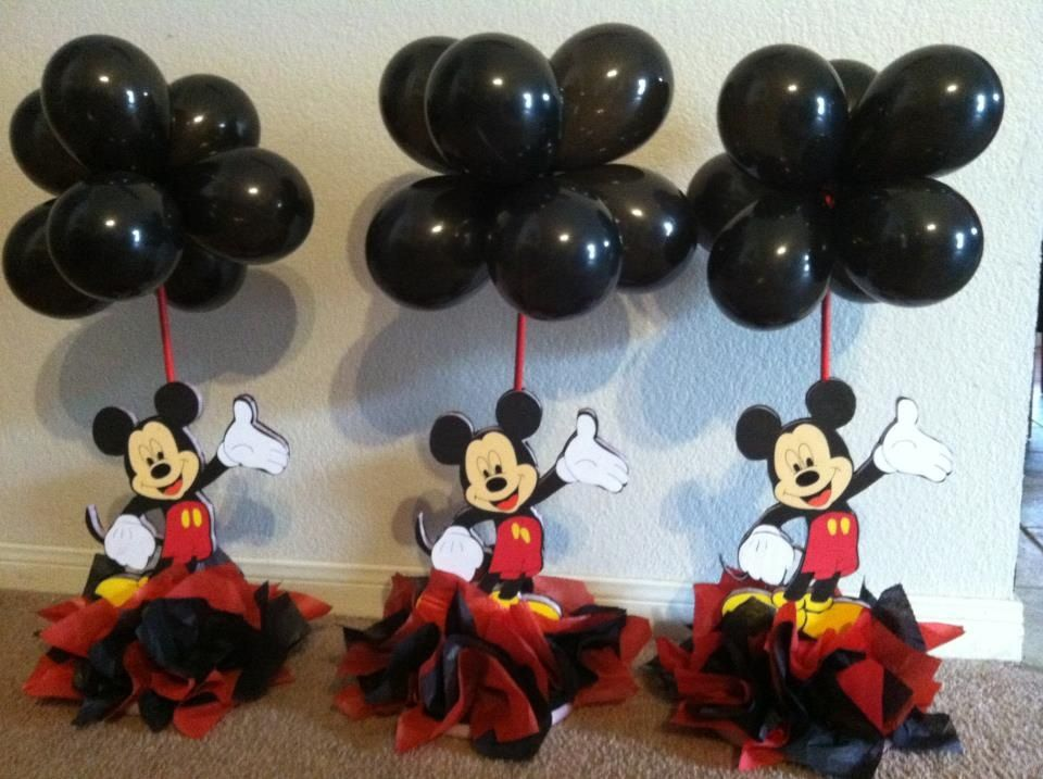 mickey mouse centerpieces mickeymouseclubhousepartyideas mickey rh pinterest com mickey mouse centerpieces for 1st birthday