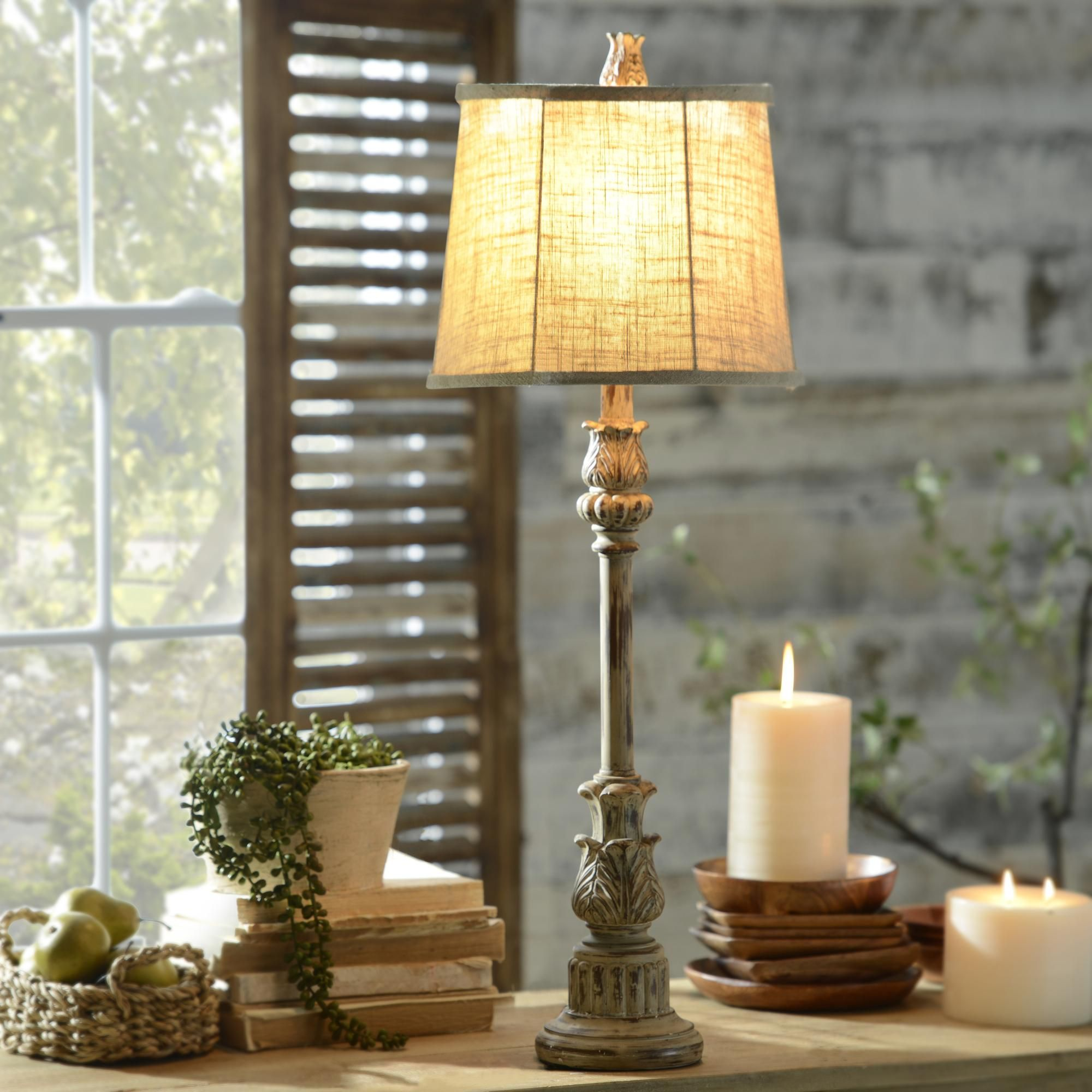 With Long Narrow Necks And Small Shades Buffet Lamps Are Use To Focus Light