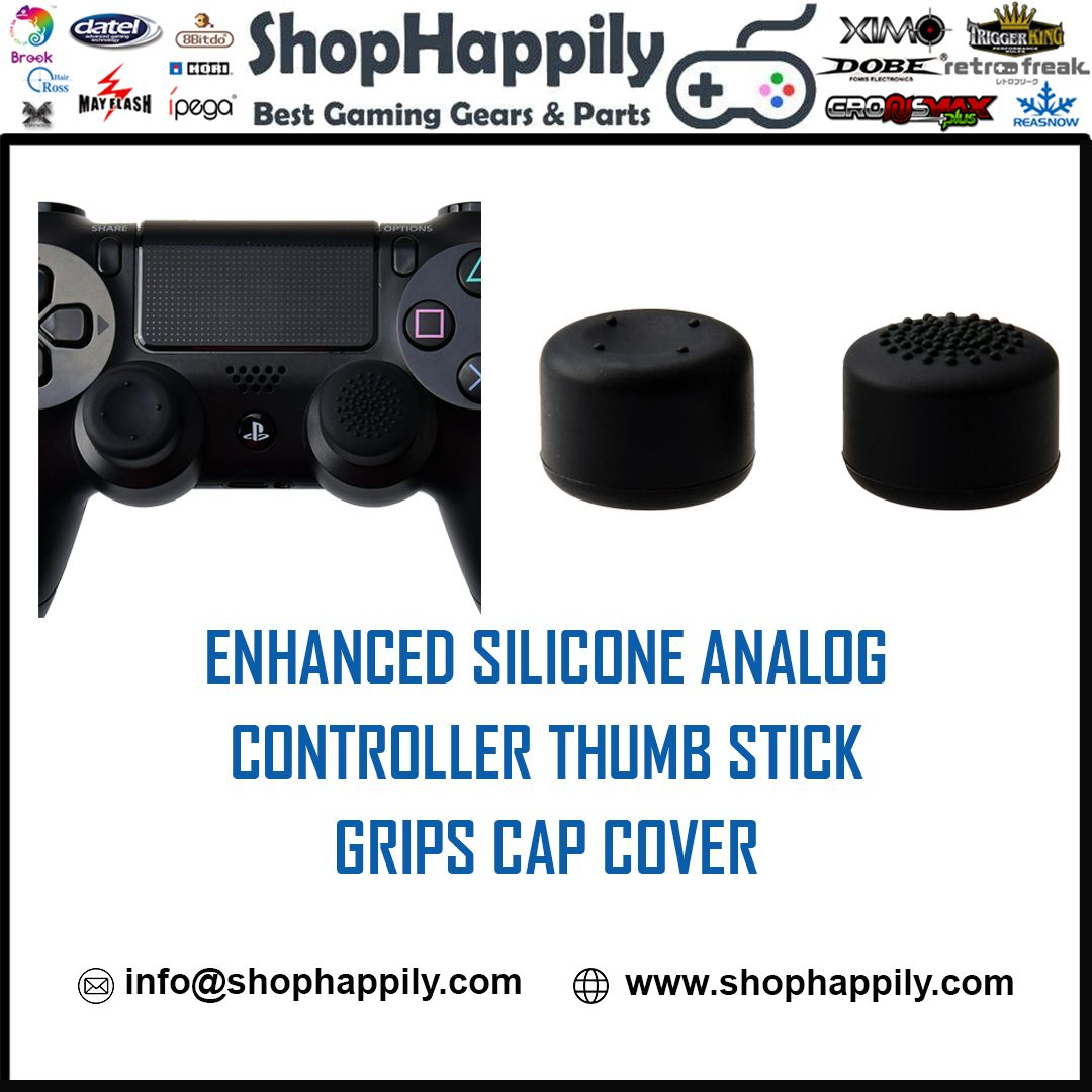 Enhanced Silicone Analog Controller Thumb Stick Grips Cap Cover