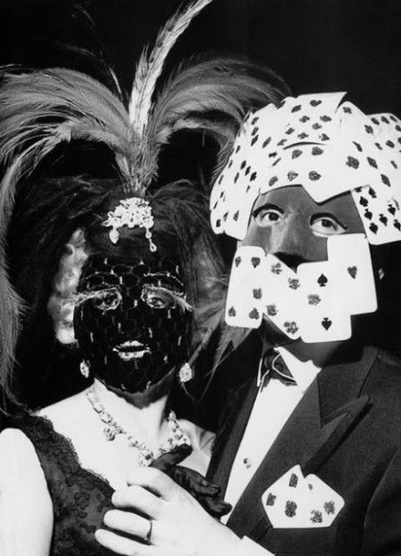 Bal des masques,1950s by Andre Ostier