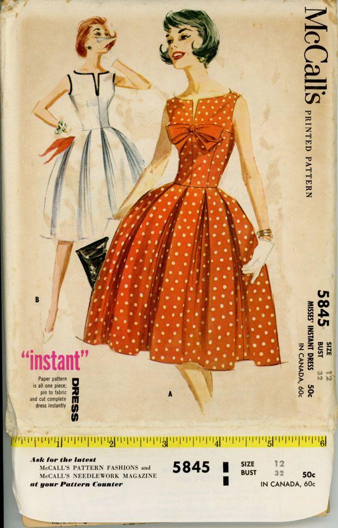 Mccall S 5845 Mccalls Patterns Dress Fashion Dress Making Patterns
