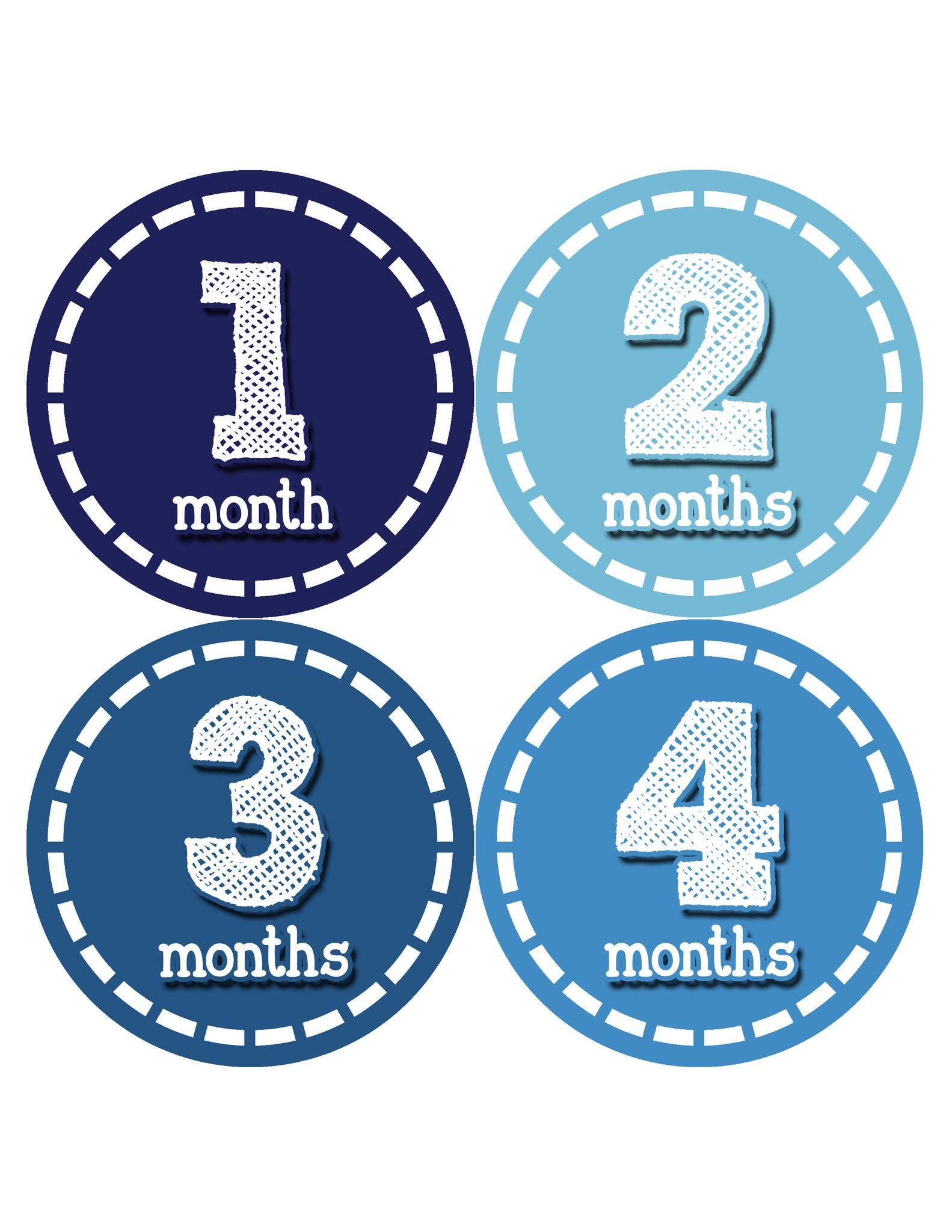 Baby Boy Monthly Milestone Stickers Style #081