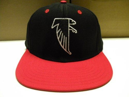 nfl atlanta falcons black red 2 tone snapback cap old school by reebok. 10.04.