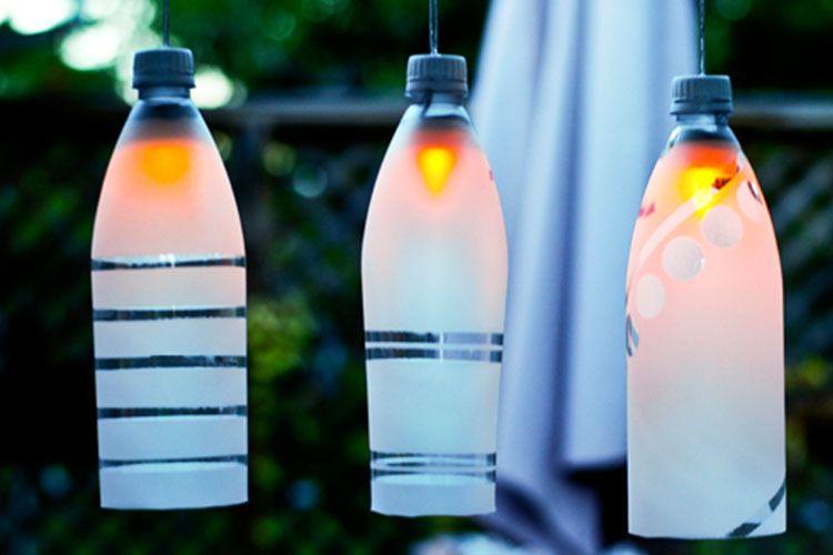 Bottiglie riciclo lampada idee creare oggetti bottiglie di