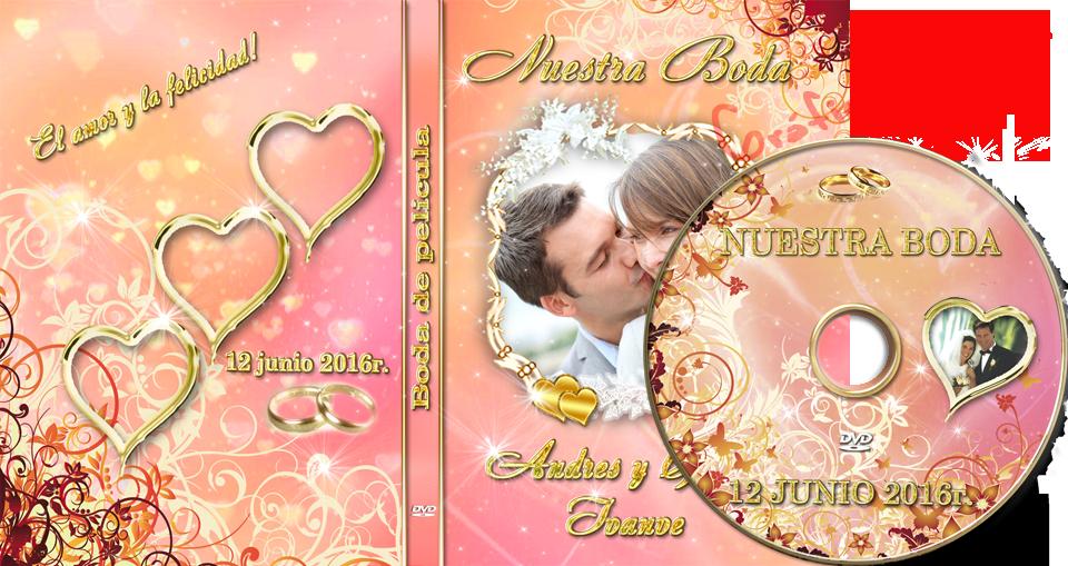 Plantillas psd Floral con Corazones para crear portada DVD ideal ...