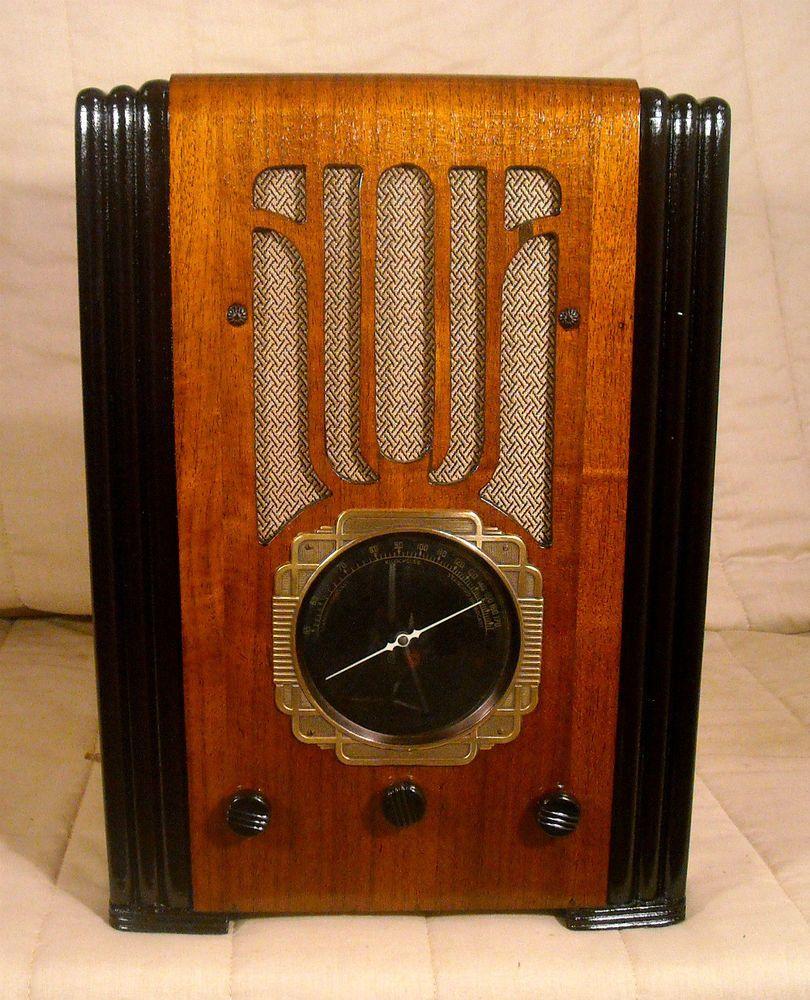 Old Antique Wood Silver Marshall Vintage Tube Radio Restored Working Tombstone Silvermarshall Antique Radio How To Antique Wood Old Antiques