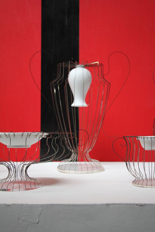 Reborn Porcelain And Stainless Steel Vases By Lin Wei Teng Vase Design Design Organic Ceramics