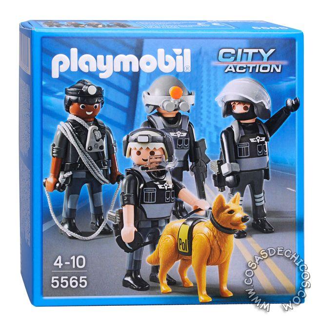 Playmobil Unidad Especial De Policias 5565 Playmobil Playmobil Policia Policia