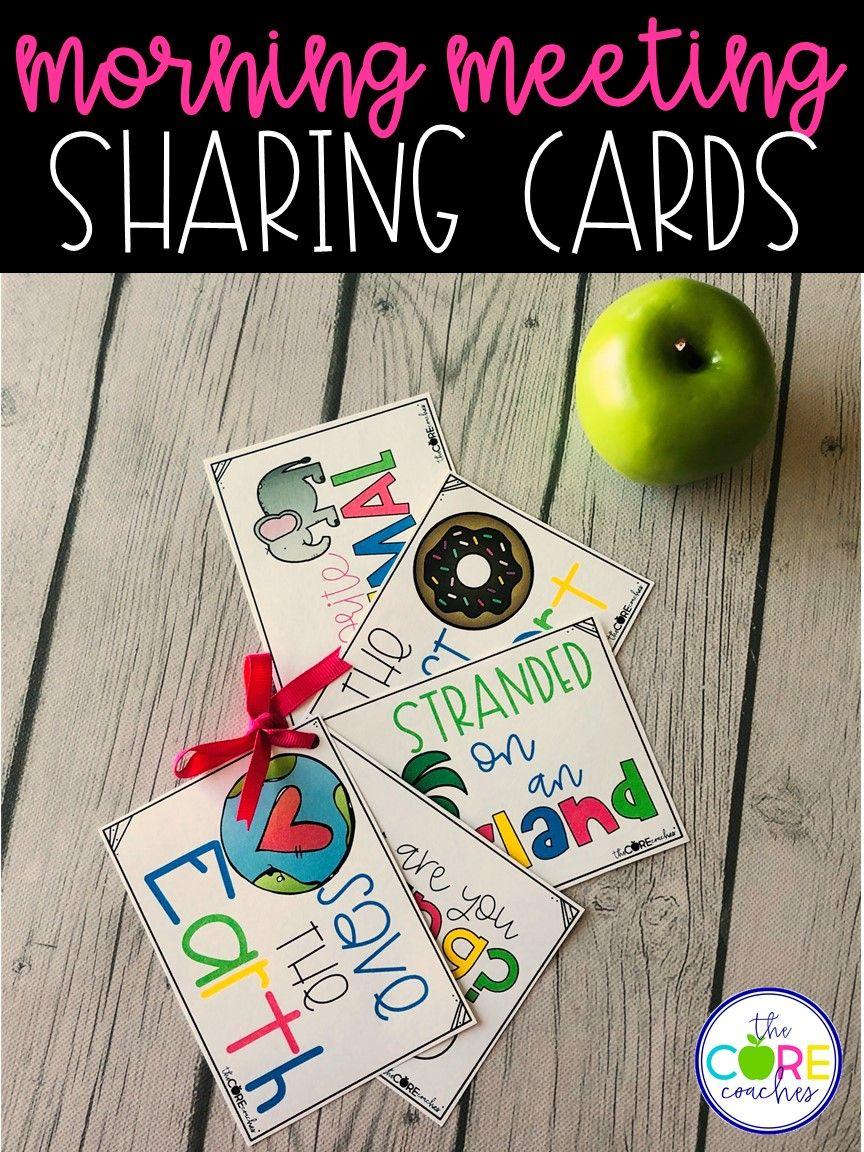 Morning Meeting Sharing Cards Morning meeting, Meeting