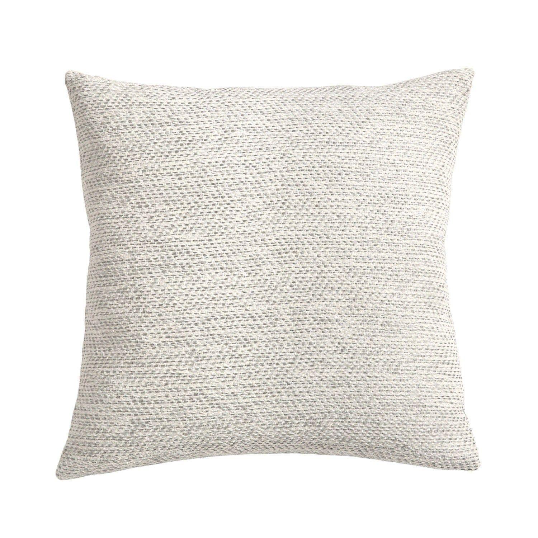 grey white woven throw pillow